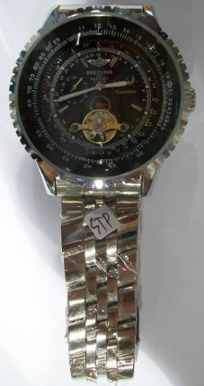 jual jam kw breitling tourbillion black